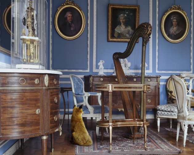 "Karen Knorr, ""The Blue Salon Louis XVI 2"""