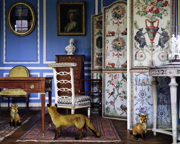 "Karen Knorr, ""The Blue Salon Louis XVI 3"""