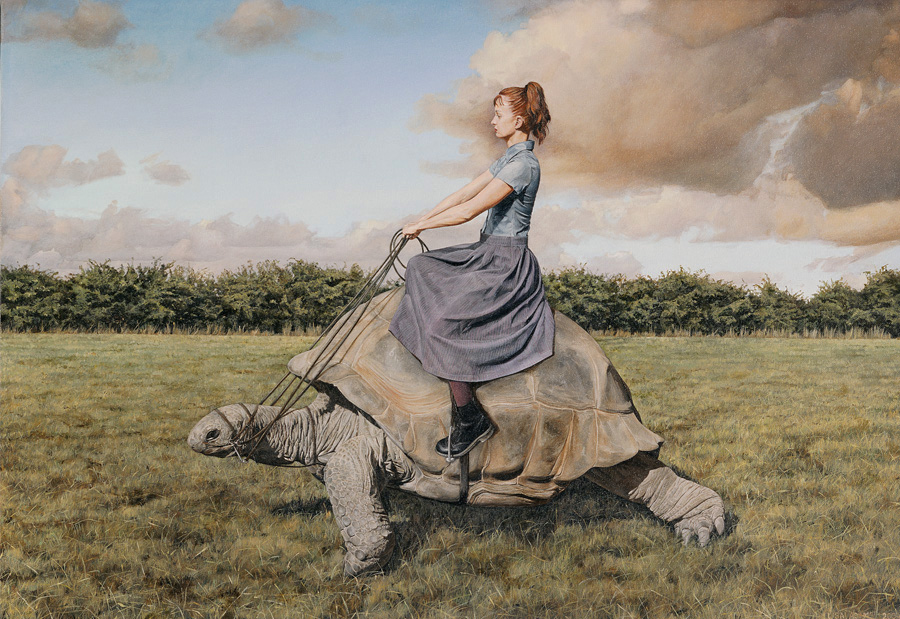 "Lisa Adams, ""Side-Saddle"""