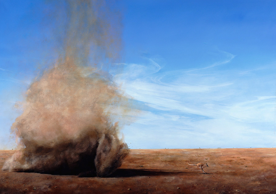 "Lisa Adams, ""Fleeing Kangaroo"""