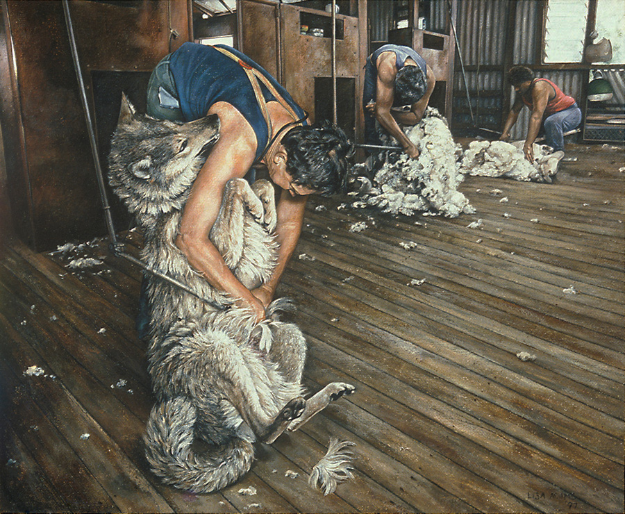"Lisa Adams, ""Wolf in Sheep's Clothing"""