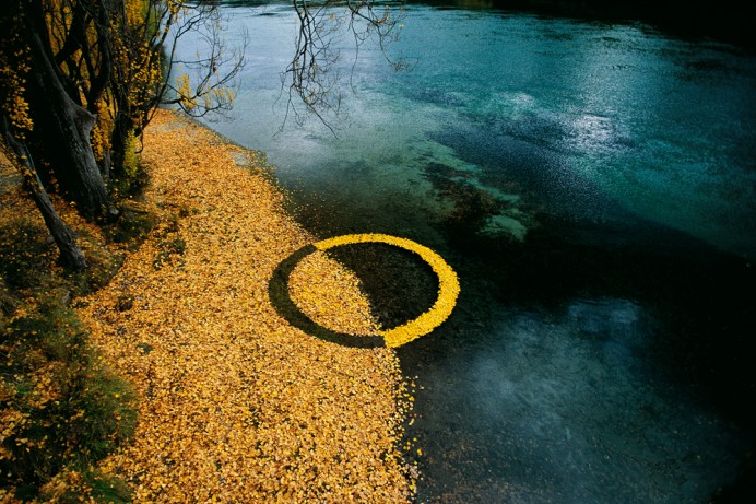 "Martin Hill, ""Autumn Leaf Circle"""